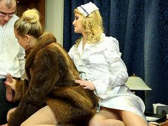 two chicks fucking the doctor