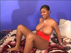 Ebony cock banged in ass and cunt
