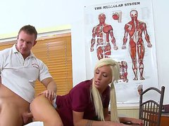 Gorgeous and lusty golden haired student
