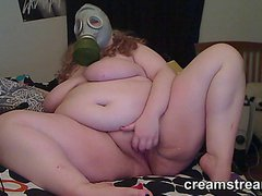 BBW Cams Masturbation with Gas Mask