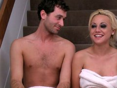 James deen and blonde babe hardcore