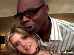 Huge black dong for lusty blonde MILF