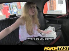 FakeTaxi Huge hairy ginger pussy struggles with big...