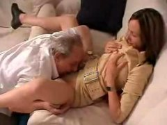 Old Grandpa taboo sex with girlfriend