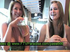 Lina splendid blonde babe with her babefriend in a restaurant talking
