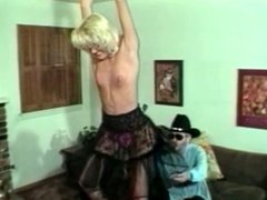Blonde milf spanked by a cowboy