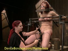 Redhead amateur loves corporal punishment