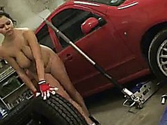 Mechanic Shione Cooper Gets Dirty In The Garage
