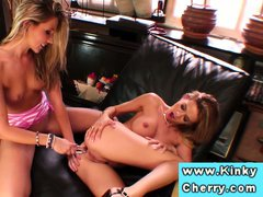 Cherry Jul and Chloe Delaure sucking pussy in high def