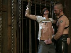 Kinky hunk got his cock tortured