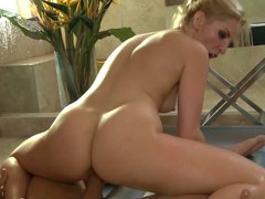 Ashley fires fucked after oily massage