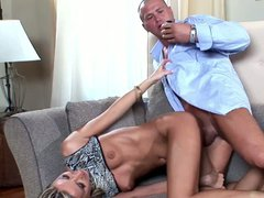 Blonde pussy plowed