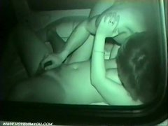 Car sex captured by infrared camera
