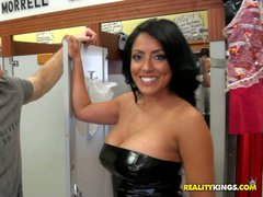 MILF Hunter picked her up in his buddy's store. She