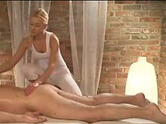 Massage Rooms Horny masseuse has a squirting orgasm