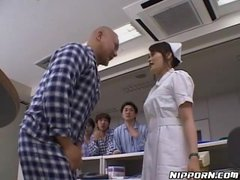 Group sex with Japanese nurses