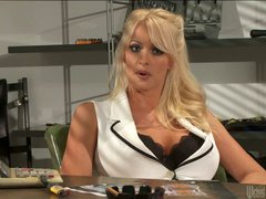 Sexy big titted blonde Stormy Daniels stars in steamy adult