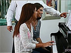 Doing their piano teacher