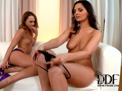 Blue Angel and Eve Angel are two sexy ladies with