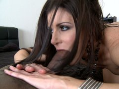 Good looking slim white MILF India Summer is hungry for