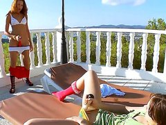 Watch these two Sexy lesbian brunette