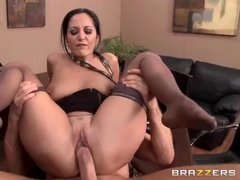 Delicious big titted secretary Ava Addams knows how to make