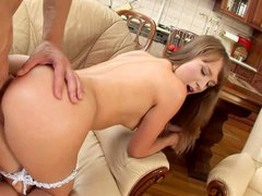 Cute teen beauty Gracie with wonderful tight bubble ass pulls