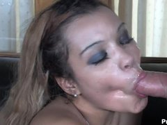 Mercedez Sanchez is hungry for sweet cum of her tattooed