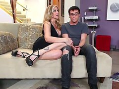 Attractive turned on blonde milf Julia
