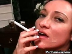 Hot sexy nasty MILF brunette babe gives part1