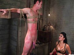 Sativa Rose and her slave toy