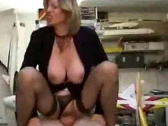 Mature boss and her employee 00