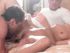 Exquisite MMF threesome with ultra babe