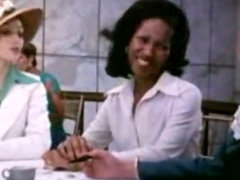 Classic restaurant scene with blowjobs and sex