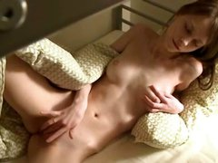Teen rubbing one out before going to bed
