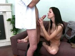Female model penetrating with fake agent