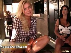 Hot brunette and blonde babes with huge part1