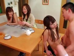 Japanese babe fucked in the living room