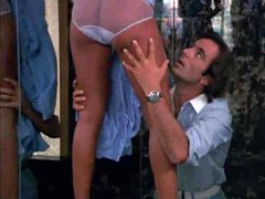 Amazing tanned babe fucked in classic movie