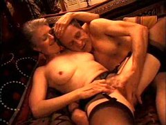 Mature couple loves naughty foreplay
