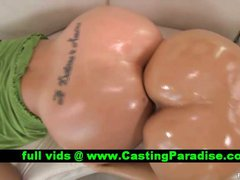 Holly Halston two gorgeous blonde oiled asses