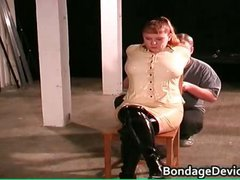 Kinky MILF gets tied and cunt inspected part4