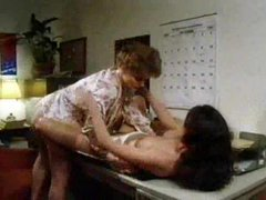 Lesbian seduction with great tit play