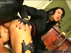 The Dominatrixes Become The Slaves Ready To Suck And...