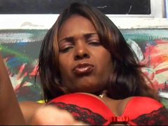 Sweet white slave girl lick and kiss black feet