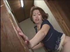 Japanese Grandmother Fucks Young Guy