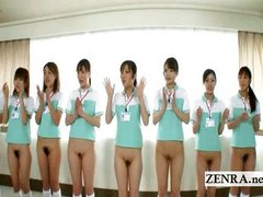 Bottomless panty less Japanese nurses