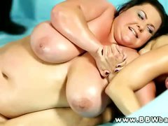 BBW wrestling babes want cock from the ref