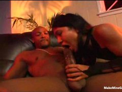 Asian nailed by a monster cock 1