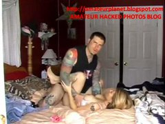 tattoo couple have fun on HIDDEN CAM